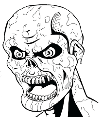 Scary Halloween Coloring Pages Predragterziccom