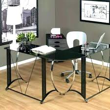 office glass desk. Frosted Glass Office Desk Medium Image For Shaped Black .