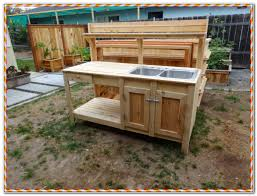 Potting Bench Plans Garden Potting Bench With Sink Sinks And Faucets Home Design