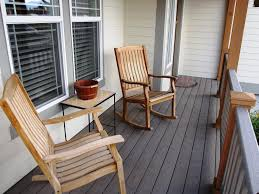 image of wooden outdoor rocking chairs