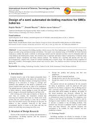 Design Of Machine Elements 4th Edition By Faires Pdf Pdf Design Of A Semi Automated De Lidding Machine For Smes