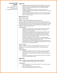 Medical Lab Technician Resume Format Medical Lab Technician Resume