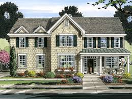 traditional house plan front of home 065d 0371 house planore