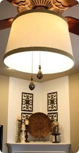ceiling fan inside drum shade. drum shade on ceiling fan inside