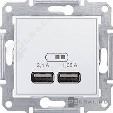 SDN2710221, <b>Розетка USB</b>, 2,1А Sedna, <b>USB</b> type-A 5V, двойная ...