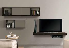 Stunning Wall Mounted Tv Unit Shelves Design Mount Attractive Stands  Regarding 17 ...