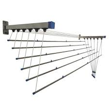 ss wall mounted clothes drying rack at