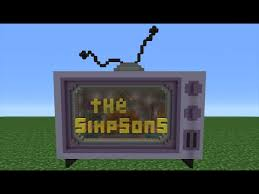 how to make a tv in minecraft. Minecraft Tutorial: How To Make A Simpsons TV House Tv In E