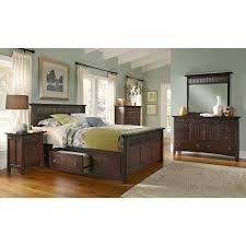 American Signature Furniture - Arts Crafts Dark Storage Bedroom King ...