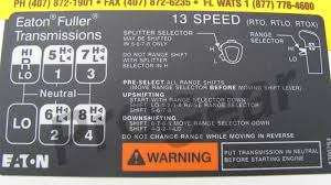 13 Speed Shift Pattern Gorgeous 48 Speed RTLO Shift Pattern Diagram Instructions Eaton Fuller