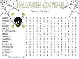 Free Printable Halloween Word Search Puzzles – Fun for Christmas