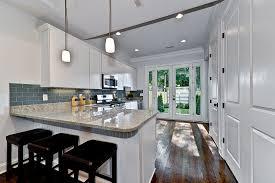 blue gray ocean glass tile kitchen backsplash