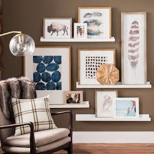 gallery wall ideas, gallery walls with wall shelves, wall ledge gallery wall,  play