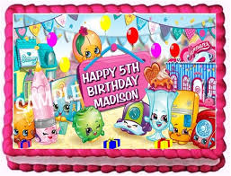 Ebluejay Shopkins Edible Cake Topper Birthday Party Decoration