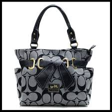 ... good coach handbags coach poppy bowknot signature medium grey totes anc  with high quality and da3fe ...