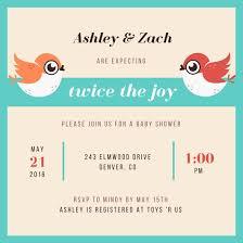 Get Together Invitation Template Enchanting Twins Baby Shower Invitation Templates By Canva