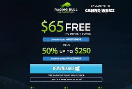 raging bull no deposit bonus