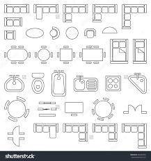 floor plan furniture symbols bedroom. Standard Furniture Symbols Used In Architecture Plans Icons Set Save To A Lightbox. Dining Room Floor Plan Bedroom L