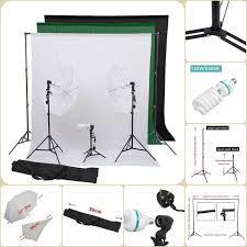 portable photography kit umbrella set w light bulbs photo studio lighting set in
