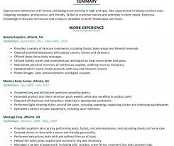 Free Download Medical Esthetician Resume Objective Billigfodboldtrojer