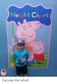 Peppa Pig Height Chart