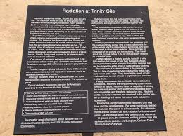 Notes About Radiation Picture Of Trinity Site