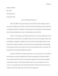 present time essay ap world