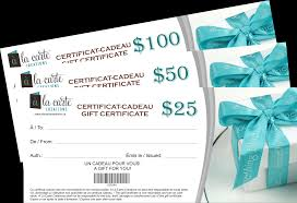 gift certificates raffle for habs tickets agrave la carte creations purchase alc gift certificates for chances to win a boxing glove autographed by lucian bute