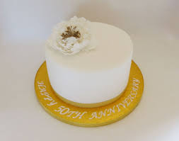 50th Golden Wedding Anniversary Cake Cake By Angel Cake Design
