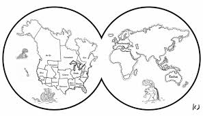 Small Picture Page World Coloring World Map Coloring Page Page World Map