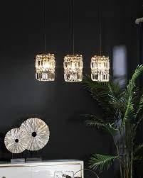 Đèn LED thả trần bàn ăn 3 bóng chao pha lê VIRGO DL115 • Đèn trang Trí cao  cấp Virgo