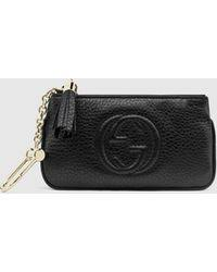 gucci key pouch. gucci | soho leather key case lyst pouch e