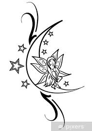 Nálepka Fairy Tetování Na Měsíci Pixerstick