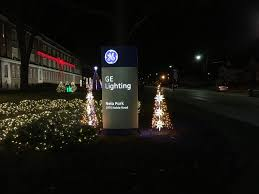 ge lights up nela park with cleveland themed holiday display photos cleveland com