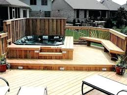 mind blowing ideas for patio hot tubs outdoor and tub building plans cedar diy