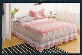 pink gray bedspread maress cover twin full queen size bed skirt with elastic bed cover bed skirt bedding home textiles queen bedskirt daybed skirt from