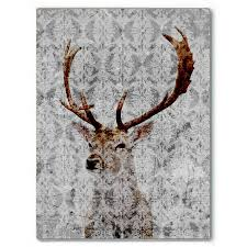 highlands stag canvas art