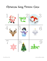 Christmas Song Games : Fun Printable Christmas Games For Kids ...