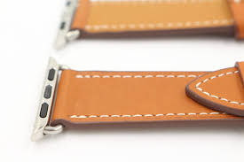 hermes style deployment buckle single tour leather band for apple watch 38mm 42mm 40mm
