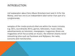 music industry essay plan  2 introductionrief explanation about sony music