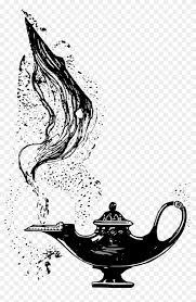 Aladdin Arabian Fairy Genie Png Image Genie Lamp Black And White
