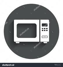 Kitchen Microwave Microwave Oven Sign Icon Kitchen Electric Stock Vector 221997817