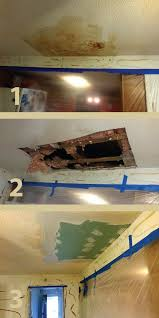 water damage home repair. Wonderful Damage Repairing Ceiling Water Damage In 3 Steps Mobile Home Renovations  Basement Throughout Water Damage Repair A