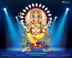 Five Head Ganesha Panchmukhi Wallpaper ...