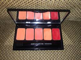 mufe make up for ever makeup forever rouge artist palette 5 lipstick palette pallete