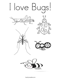 Small Picture I love Bugs Coloring Page Twisty Noodle