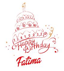 Fatima Happy Birthday Vector Cake Name Png