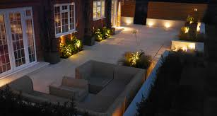 garden lighting design designers installers. Slate Grey Garden Lighting Downlighters On A Wooden Clad Wall In Newly Designed And Landscaped Design Designers Installers