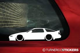 2x Low car outline stickers Toyota Supra Mk3 3.0 Turbo A70 JDM