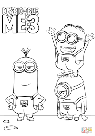 Despicable Me Coloring Pages Despicable Me 3 Minions Coloring Page